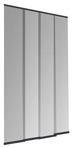 Windhager Insektenschutz PLUS Türvorhang Easy Lamellenvorhang Fliegengitter individuell kürzbar, 120 x 250 cm, anthrazit, 04315
