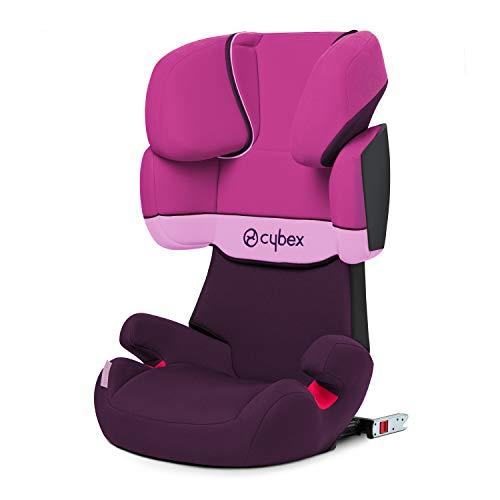Cybex - Silla de coche grupo 2/3 Solution X-Fix, para coches con ISOFIX, 15-36kg, desde los 3 hasta los 12 años aprox., Morado (Purple Rain)