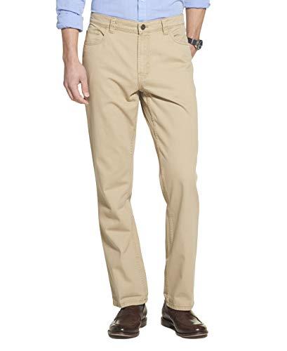 Arrow 1851 Men's 5 Pocket Straight Fit Twill Pant, Cedarwood Khaki, 32W x 30L