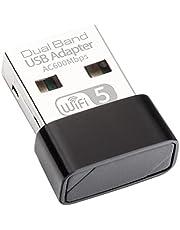 WiFi 無線LAN 子機 AC600 433+ 200Mbps 2.4G/5Ghz 11ac対応 USB2.0 WiFi 子機 WiFi USB アダプター WiFi Adapter デュアルバンド 無線子機 5g 高速 11ac/n/a/g/b Windows/Mac OS/Linux 対応