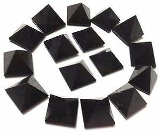 CRYSTALMIRACLE Lot of 9 Black Tourmaline Loose Mini Gemstone Pyramids Crystal Reiki Bagua Vaastu Healing Gift Wellness Luc...
