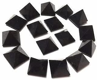 Lot de 9negro turmalina sueltos gemas Reiki de cristal pirámides Pa Kua Vaastu curación regalo bienestar suerte protectora de alimentación deflector riqueza oficina en casa