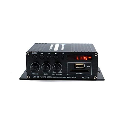KDLK 400W 2 * 200W Estéreo De Alta Fidelidad para El Hogar del Coche Subwoofer Amplificador De Audio para Coche Amplificador De Sonido Altavoz Bluetooth EDR Audio LED Amplificadores De Diseño