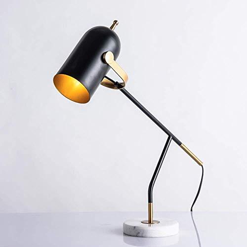 WRISCG Lámpara Escritorio Negro Poste Moderno Minimalista lámpara de Mesa Dise?Ador Creativo Modelo habitación Dormitorio sofá Lectura Ojo Escritorio lámpara de Oficina