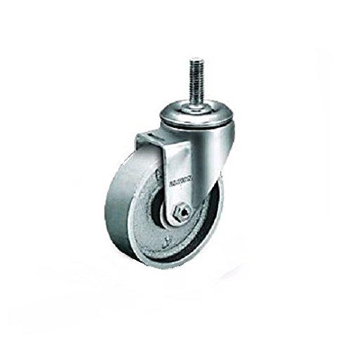Albion 02CA03041S-S31 3' Diameter Cast Iron Wheel Institutional Swivel Stem Caster, Roller Bearing, 1/2' Stem Diameter x 1-1/2' Stem Length, 200 lb. Capacity Range