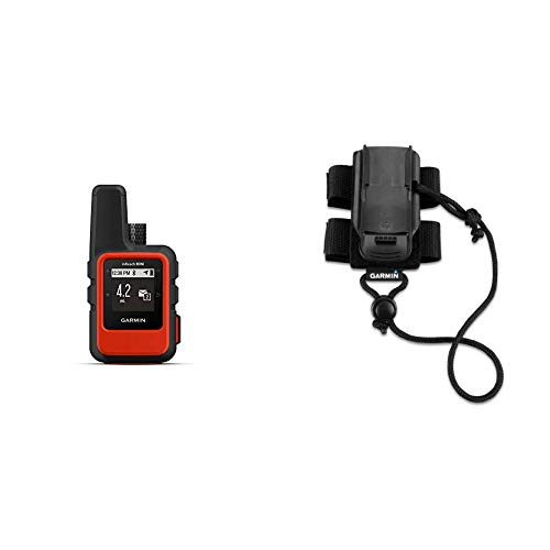Garmin inReach Mini, Lightweight and Compact Handheld Satellite Communicator, Orange Bundle with Garmin Backpack Tether Accessory for Garmin Devices