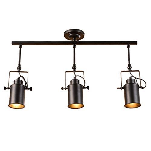 Projecteur de plafond LED 3-Flame rétro Vintage Projecteur plafonnier spot intérieur lampes pivotant industriel spot mural noir réglable éclairage salon bar comptoir café bar magasin de vêtements