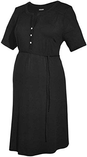 Esmara® Damen Umstands-Kleid, Kurzarm (schwarz Uni, Gr. S 36/38)