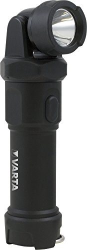 Varta Professional Line Indestructible Swivel Linterna (4W, LED-4xAA), negro, 4 AA