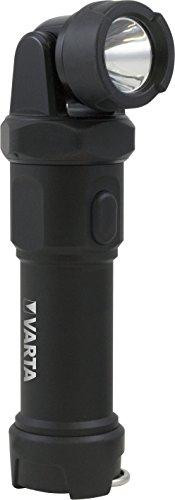 Varta Indestructible Swivel Light 3 Watt LED Taschenlampe/Arbeitsleuchte (inkl. 4 Longlife Power AA Batterien, kratzfestes und spritzwassergeschütztes Gehäuse)