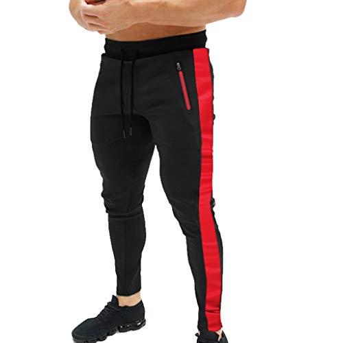 MINIKIMI broek heren trainingsbroek joggingbroek met strepen sweatbroek casual fitness jogger sweatpants Meisner slim fit broek stretch chchch-chinobroek M-2Xl