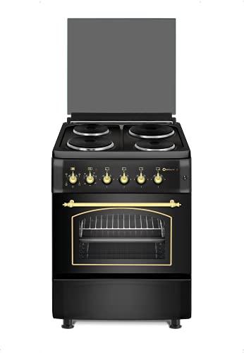 Cocina SolThermic TODA ELECTRICA F6S04E3RB HORNO CON TURBO Y GRILL Y QUEMADORES ELECTRICOS de Color Negro Rústico. ENTREGA A PIÉ DE CALLE. **ALTA GAMA**