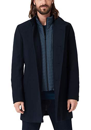 s.Oliver BLACK LABEL Herren 12.910.52.3310 Mantel, Blau (Dark Navy Melange 59w1), Large (Herstellergröße: 50)