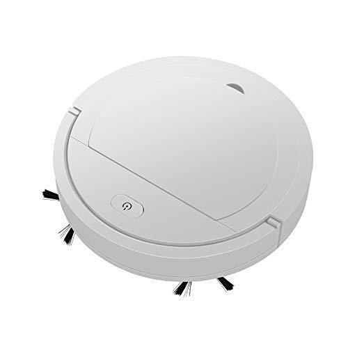 Robot Aspiradora, portátil USB 3en1 inteligente Esterilización Sweeper de carga ultra-delgado cuerpo 1800Pa potencia de succión anti-gota Diseño ultra silencioso Se utiliza for la limpieza de suelos,