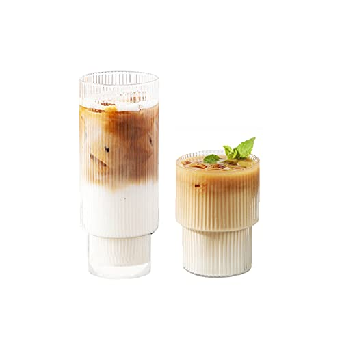 Glass Cup Coffee Mug, Origami Style Transparent Tea Set Heat Resistant Glassware, Wine Ice Beer Cup...