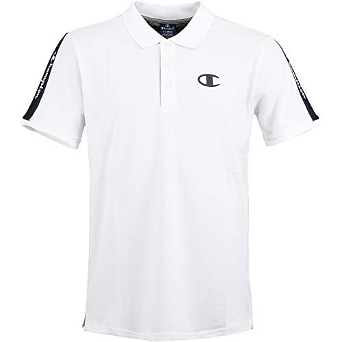 Champion Logo Polo Shirt (M, White)