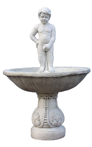 "Gartenbrunnen Brunnen Dekobrunnen \""pissender Junge\"" Statue Junge pinkelt 135 cm Riesig"