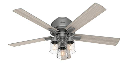 Hunter Hartland Low Profile Indoor Ceiling Fan with LED...