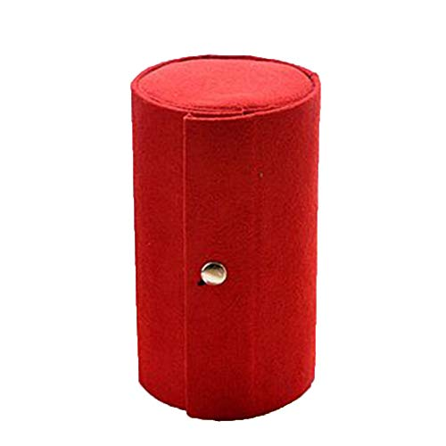 TDFGCR Schmuckschatulle-Speicher-Organisator-Kasten-Ring-Ohrring-Halskette—rot