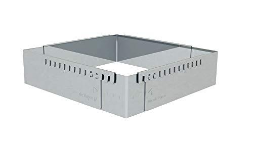 DE BUYER -3013.20 -cadre inox extensible 20x20x5 jusque 37x37x5