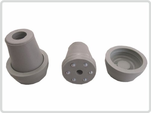 Krückenkapseln mit Spikes, 16 mm,18mm oder 20mm grau, inkl. Schutzkappe *Top-Qualität* (20mm)