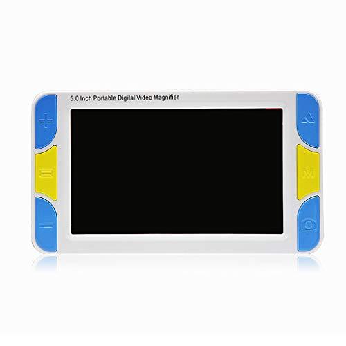 5 Zoll Handheld Digitale Lupe, Mit LED-Licht 3X-42X Verstärkung LCD-Monitor Mehrere Farbmodi Schlechte Sicht Lesehilfe, Passend Für Alter Mann, Kind, Schlechte Sicht, Lesen, Beobachteten, Verkostung,