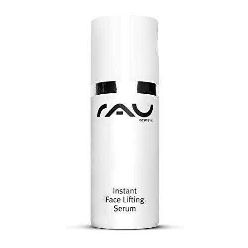 Bio Instant Face Lifting Serum 30 ml von RAU Cosmetics/Hyaluronsäure Serum mit Parakresse und Rhizobian Gum/Anti Aging Gel reduziert und polstert Mimikfältchen auf/für trockene und reife Haut