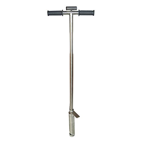 Best Deals! TECHTONGDA 304 Stainless Steel Soil Probe Sampler with Foot Peg Probing (1.5inch Dia)