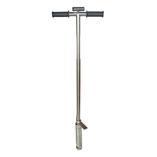 Best Deals! TECHTONGDA 304 Stainless Steel Soil Probe Sampler with Foot Peg Probing (1.5inch Dia)