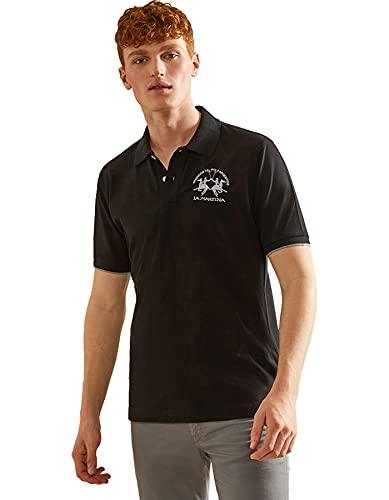 La Martina - Herren-Poloshirt Regular fit, Schwarz, Man