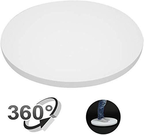 Turntable Elektrische Drehteller, 360 ° Automatische drehende Plattform, 60cm Ausstellungsstand, for die Shop Schmuck Uhren Parfüm Taschen und Collectibles (30kg) (Color : White)