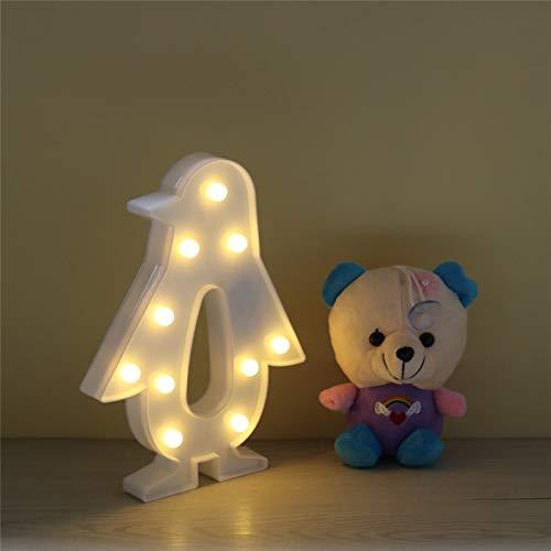 Neuheit 3D Pinguin-Form-Nachtlicht LED Birnenfeiertag, der tragbare Laterne mit RGB controllerd Dekoration für Hauptstangengeschenk beleuchtet