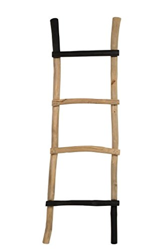 Multitalent Ladder Rack Harry uit teak van Zuiver