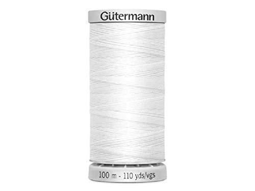 Gutermann, Filo Extra Forte, in Poliestere, Bianco, 100m