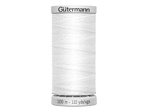 Gutermann, Filo Extra Forte, in Poliestere, Bianco, 100 m