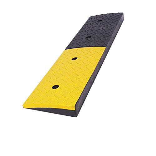 Two-tone Rubber Oprijplaten, Heavy Truck Uphill Oprijplaten Wharf Slope Oprijplaten Bouwplaats Car Slope Mat Skateboard Oprijplaten / 3-9cm (Color : Black+Yellow, Size : 98.5 * 25 * 5cm)