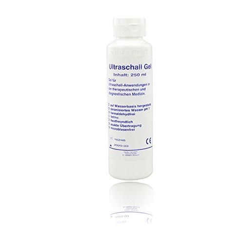 Ultraschallgel Sono Ultraschall Gel Kontakt Gel Medizinisch Gleitgel Kontaktgel Leitgel dematologisch getestet biokompatibel hautfreundlich pH-neutral 1x 250ml Flasche