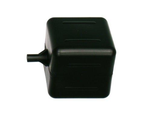 "Kerick Valve PF444-BK Polyethylene Square Float Ball, 4"" Width, 4"" Height, 4"" Length, 1/4"" Female Thread"