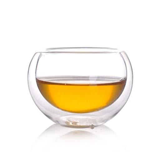NO BRAND Vaso de café con Aislamiento de Doble Pared de Vidrio de borosilicato Alto 80 ml para Tomar Leche Té Té Zumo de Frutas Café con Leche Espresso AQ227,50ml