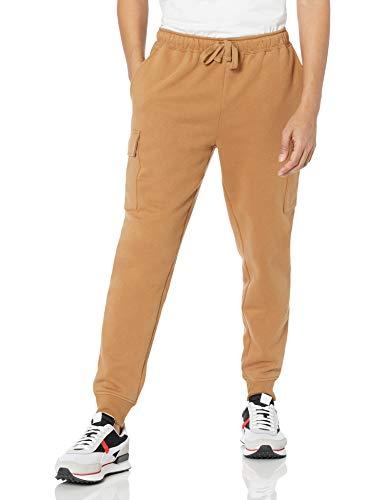 Amazon Essentials Cargo Fleece Jogger-Pantalón Deportivo, Bronceado, XL