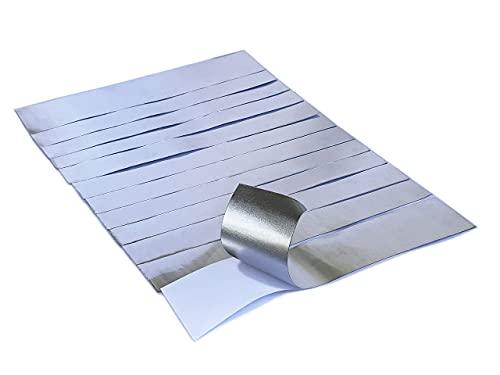 Jounjip Aluminum Tape Auto Body Repair Tape- High-Strength Adhesive Foil Tape for Automotive Metal Tape Repair, 6.3 Mil x2 Wx10 L- 12 Pack