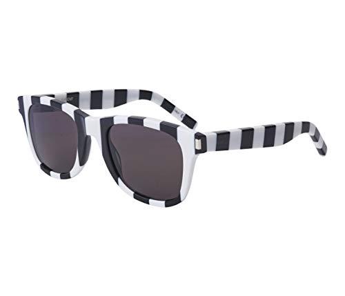 Yves Saint Laurent SL-51 047 - Occhiali da sole a righe, colore: Nero/Bianco/Grigio