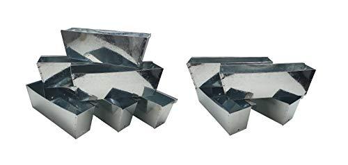 ARTECSIS Pflanzkasten Europalette 10er Set verzinkt Aus Metall Blumenkasten Balkonkasten Blech zum hängen für Paletten/Geländer