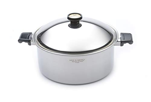 Kitchen Craft 12 Quart Stock Pot with Lid, Dutch Oven, Waterless Cookware, Induction Cookware, Handcrafted in the USA, Stainless Steel Cookware, Oven Safe Stockpot (12 Quart)