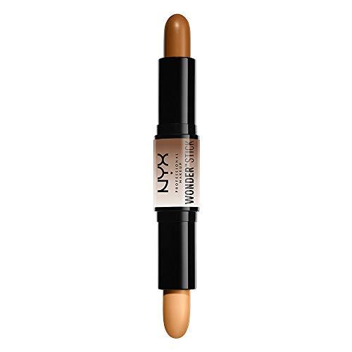NYX Professional Makeup Stick de contouring Wonder Stick, Dos lados, Contouring e iluminador, Textura cremosa, Tono: Deep