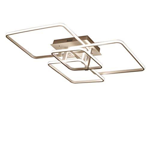 Moderne led-plafondlamp dimbaar met afstandsbediening plafondlamp mode voor creatieve ruimte mooie 4-pits plafondlamp voor woonkamer slaapkamer 3700 lumen 50W
