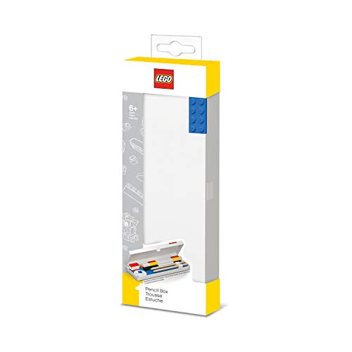 IQ Lego Stationery Pencil Case with Blue Building Brick