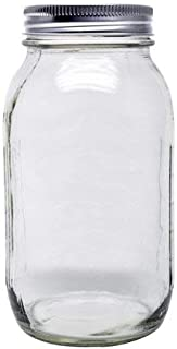 Ball Smooth-Sided Mason Jar with Lid and Band, Regular Mouth, 32 Ounces, 12 Count