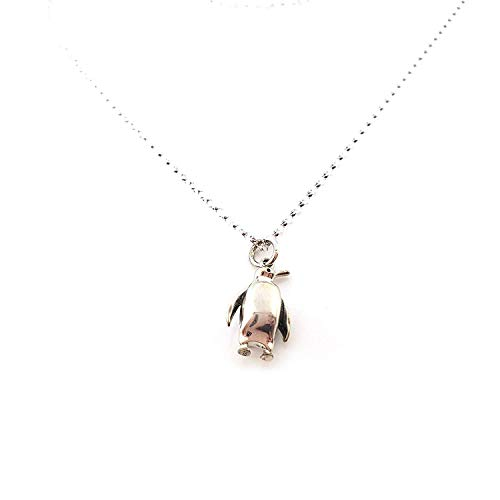 3D Penguin Charm - Sterling Silver Necklace - Gift for Her