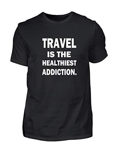Cooles Travel Spruch T-Shirt Geschenk Urlaub Reisen (Large)